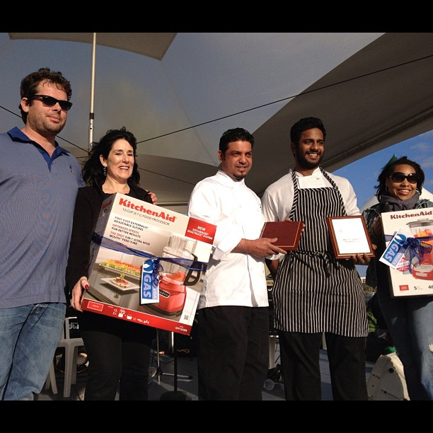 Winner and runner up from the #chefcompetition with our sponsors #Goslings and #BermudaGas and host @mizburns #cityfoodfestival #citylife #lifeinevents