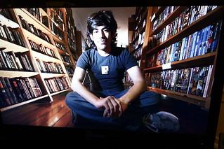 Photos of Aaron Swartz at memorial at Internet Archive in San Francisco
