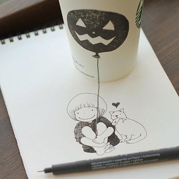 starbucks-cups-3d-drawings-tomoko-shintani-2