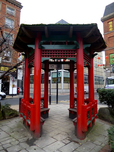 Pagoda, China Town, Manchester by Angela Seager