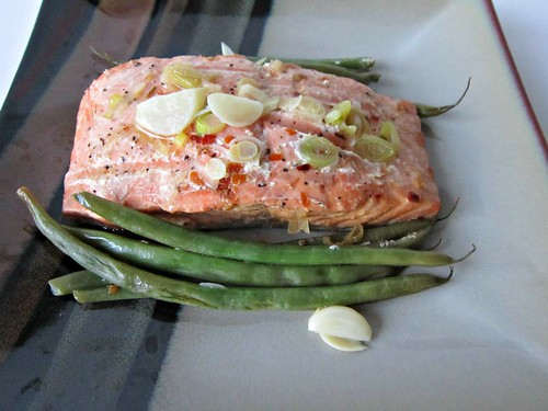 Foil Packet Soy-Lime Salmon and Green Beans