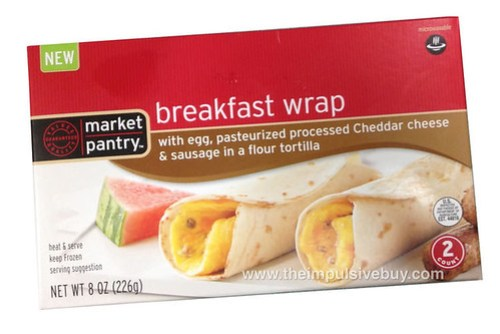 Market Pantry Egg, Cheese, Sausage Breakfast Wrap