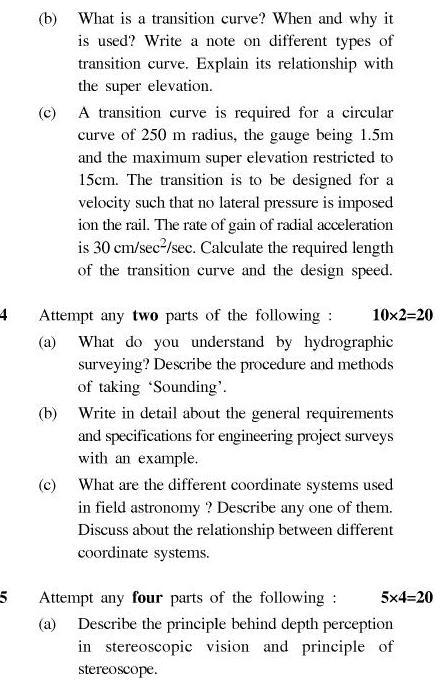UPTU B.Tech Question Papers - TCE-403-Advance Surveying