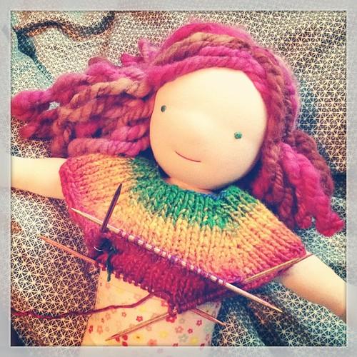 Knitting away!