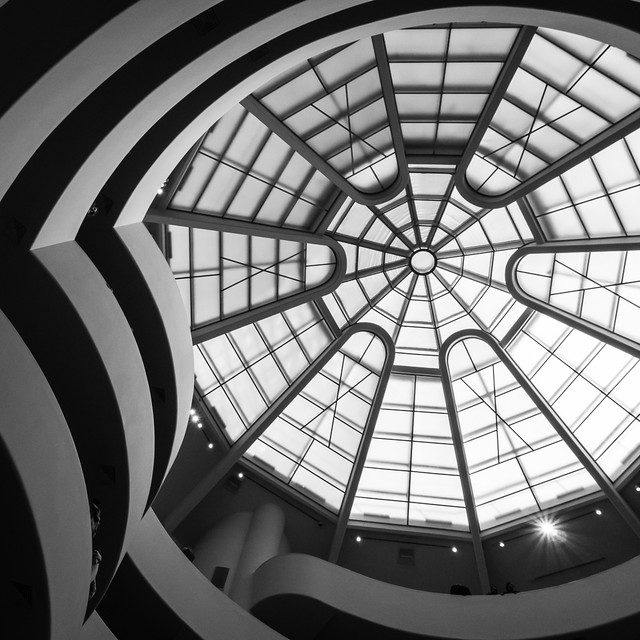 Guggenheim ramp and ceiling