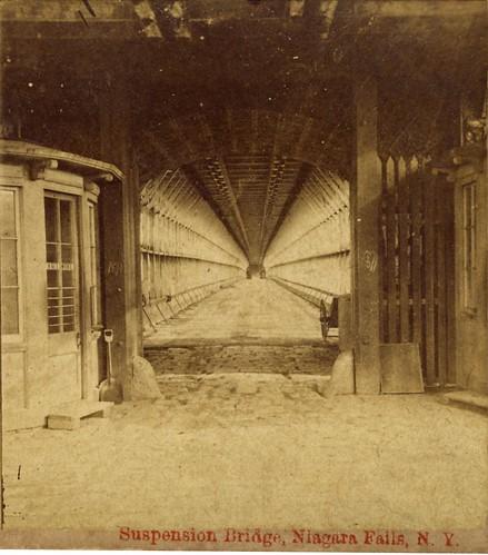 Suspension Bridge, Niagara Falls, New York - 1870s