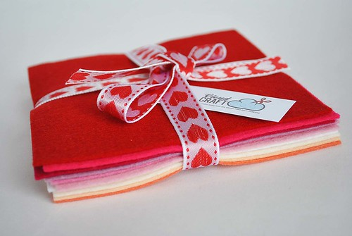 small valentines stack for felt giveaway