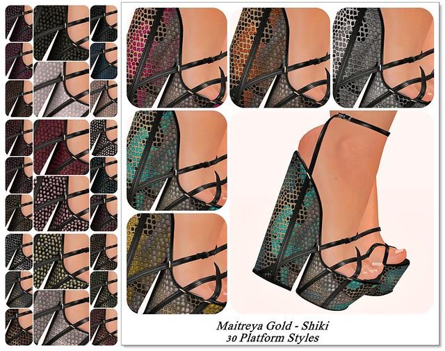 Maitreya Gold - Shiki Platform Styles
