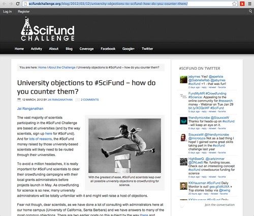 University objections to SciFund - how do you counter them