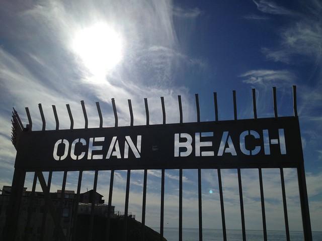 Ocean Beach pier gate