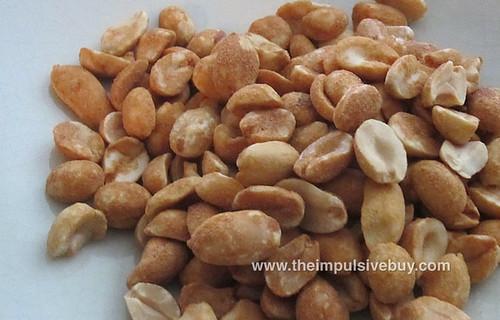 Planters Roasted Onion Garlic Dry Roasted Peanuts Closeup