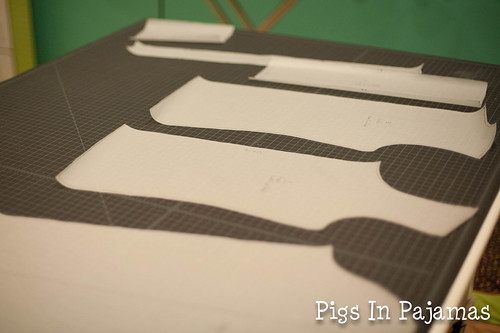 Traced pattern pieces