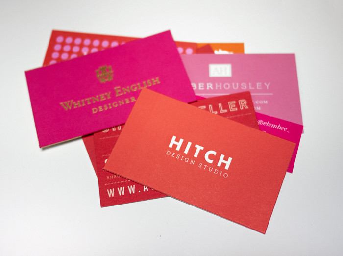 Alt Summit Business Cards 2013 - Red and Pink Pile