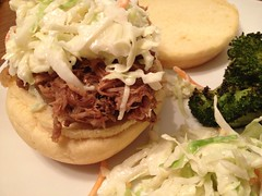 pulled pork bbq sandwich