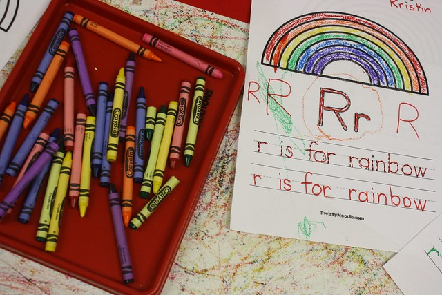 r is for roller rainbow