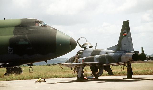 Kenyan AF 82 F-5 Fighter jet