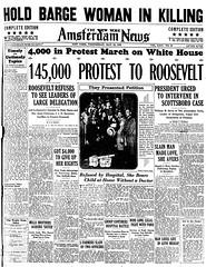 145,000 Protest Scottsboro to Roosevelt: 1933