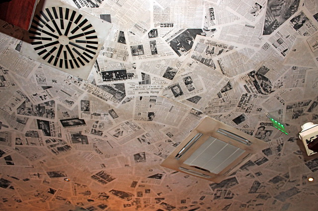 Newspaper ceiling in Budapest