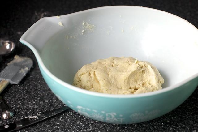 a doughy mass