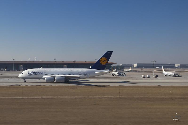 Lufthansa A380 at Beijing