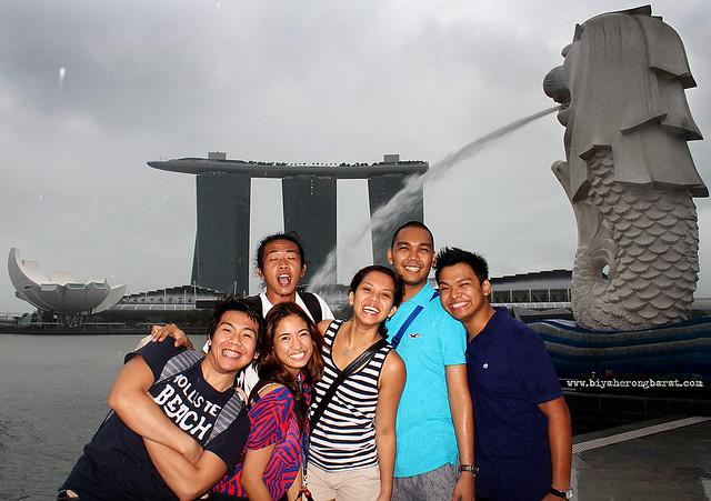Merlion Park Marina Bay Sands ArtScience Museum Singapre