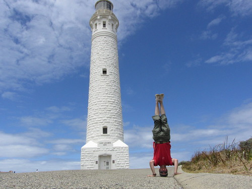 11. leeuwin lighthouse headstand