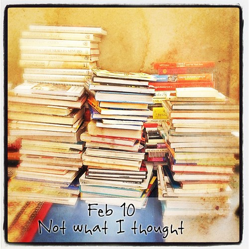 Feb 10 - not what I thought {sorting through my cook books - didn't think it would take soo long!} #photoaday #books #cookbooks