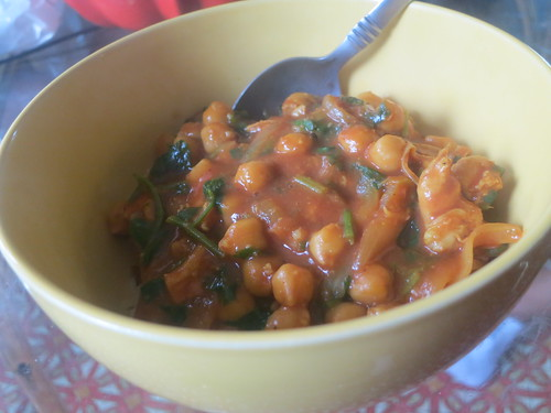Chicken and chick pea curry