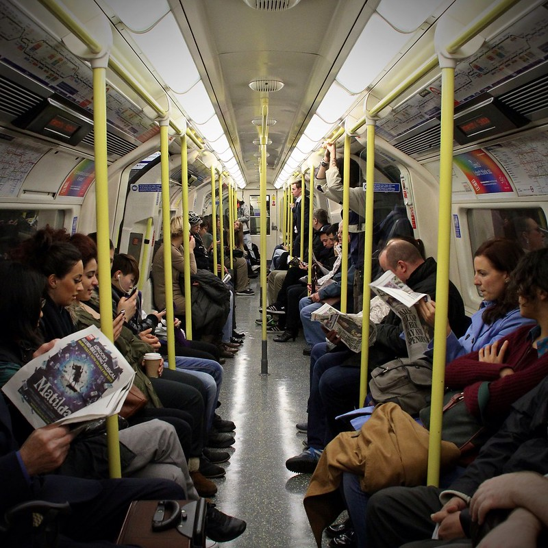 Underground commute: On the Tube in London