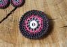 Button Circle Brooch