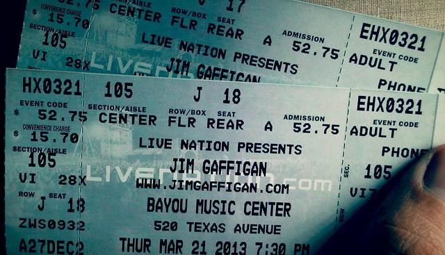 Jim Gaffigan Tickets, 21 March 2013