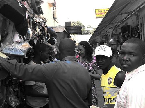 Film producer Zainab Muhammad Ahmad @ Utako Market in Abuja by Jujufilms