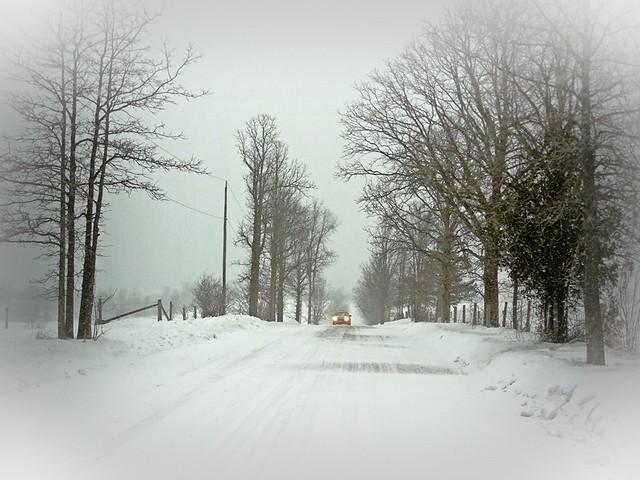 winter snow in rural Ontario