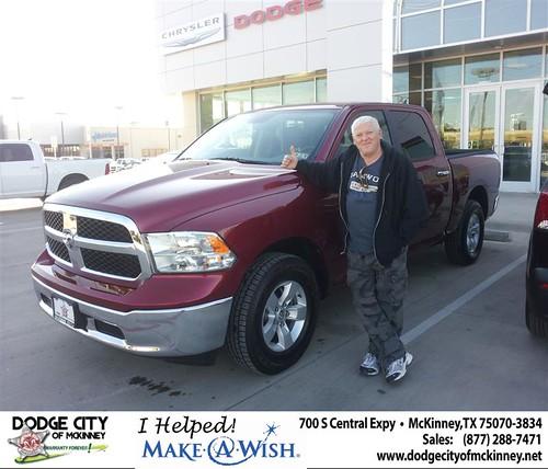 Congratulations to GARRY R WELLS on the  2013 DODGE 1500CC Ram Truck by Dodge City McKinney Texas