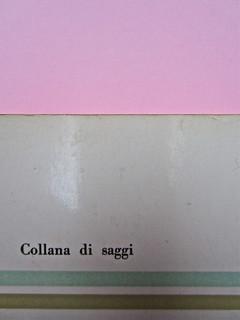 Roland Barthes, Il grado zero della scrittura. Lerici editori 1960, [progetto grafico di Ilio Negri?]. Quarta di copertina (part.), 2