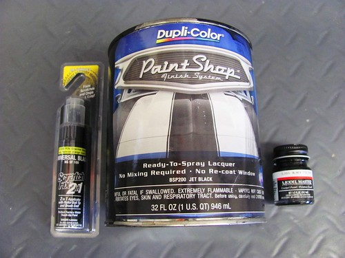 Which To Use for Headlight Touchup? Duplicolor Universal Black, DupliColor Lacquor, Model Paint
