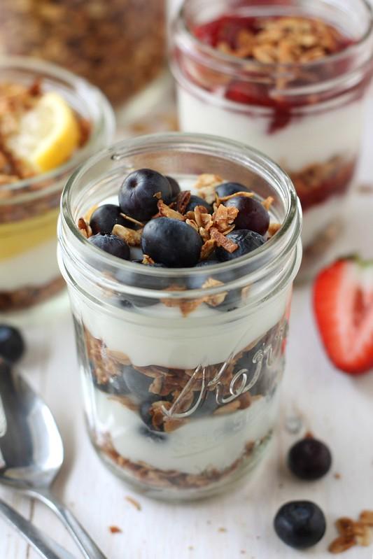 Image result for plain yoghurt and granola