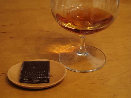 Weinbrand (CHANTRÉ) zu belgischer Schokolade