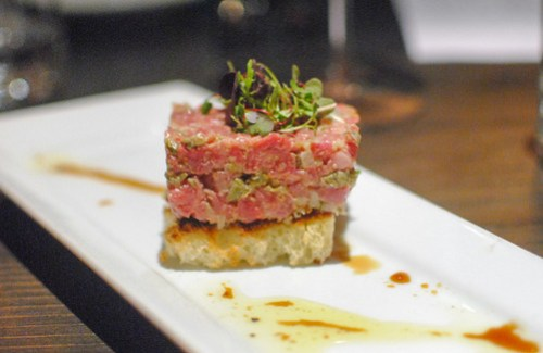 All Natural Steak Tartare Toasted Brioche and Truffle Soy Essence