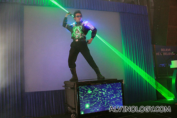I enjoyed this laser performance during the launch