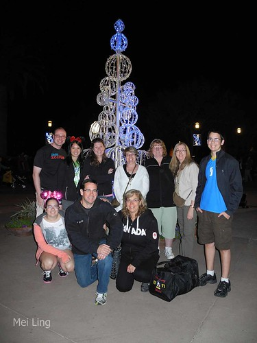 Group picture in Downtown Disney