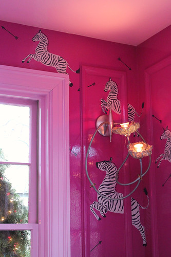 Zebras were a big theme in the decor