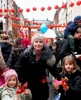 Amber, Mel and Millie in Chinatown for Chinese New Year 2013