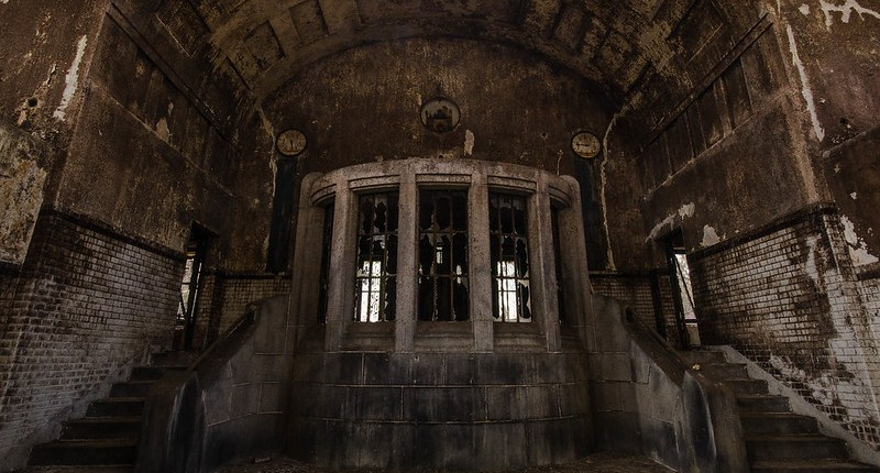 Entrance of the pumping station.