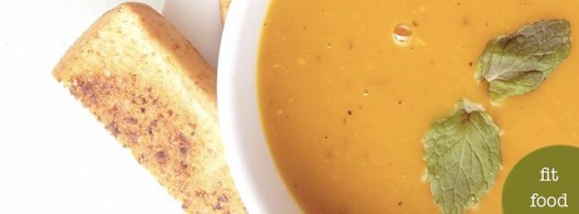 fit food: mint-infused roasted pumpkin bisque