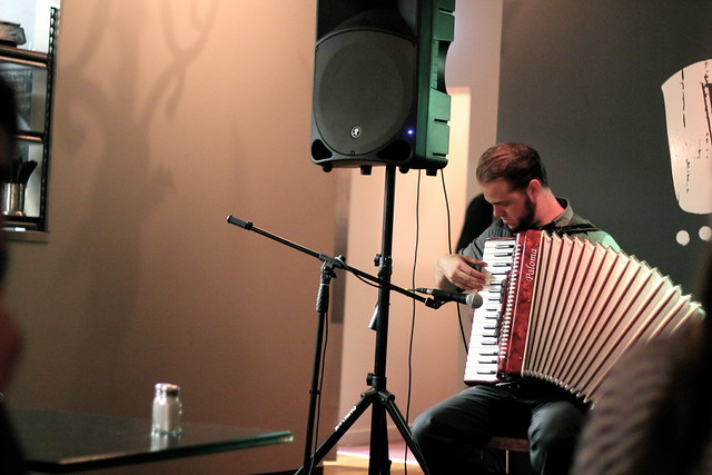 Friday: brendan playing the accordian
