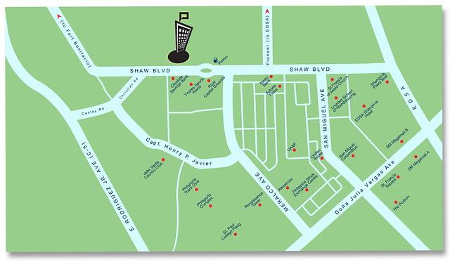 Privato Vicinty map