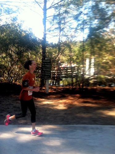 Striding toward the finish!