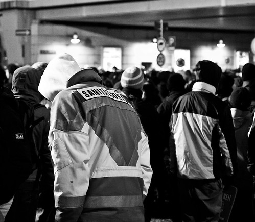 13 februar 2013 Hauptbahnhof Sanitätsdienst