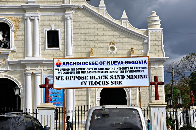 No to black sand mining in Ilocos Sur!
